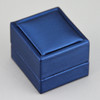 Blue Leatherette Ring Box - 7500