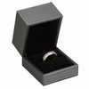 Silver leatherette Ring Box - 7600S