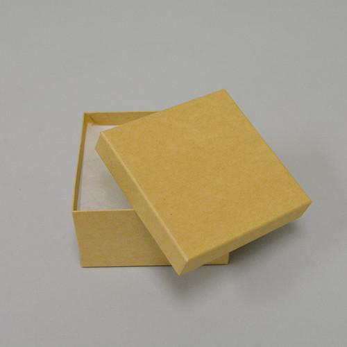 """3 1/2"""" x 3 1/2"""" x 2""""  Kraft Cotton Filled Boxes - G34K"""