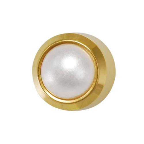 Medium Pearl Gold Plated - R2157