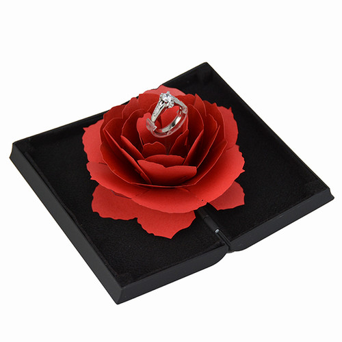 Rose Engagement Ring Box - R115