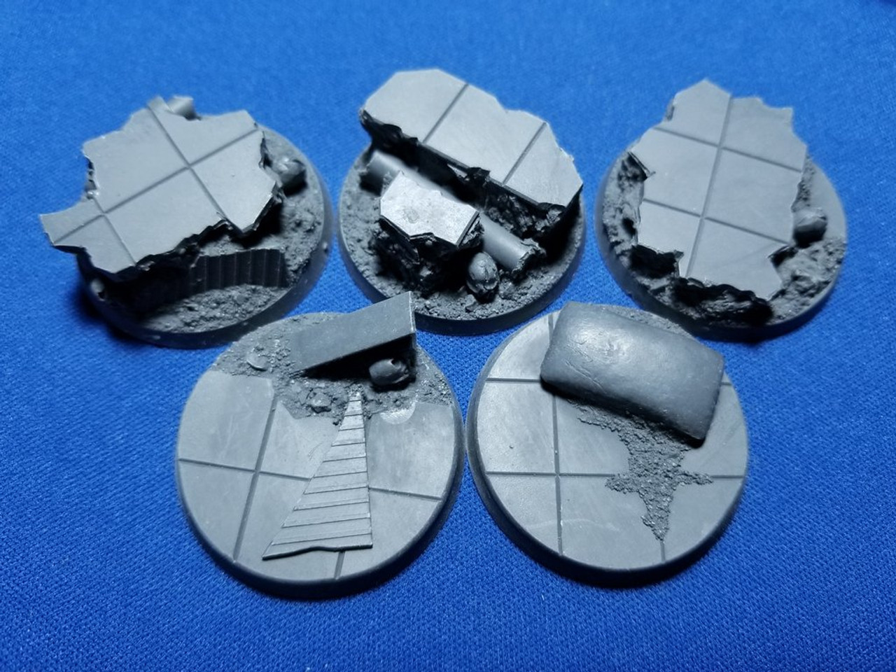 Elriks City Ruins Round Bases - 40mm - Round - 5 Pack