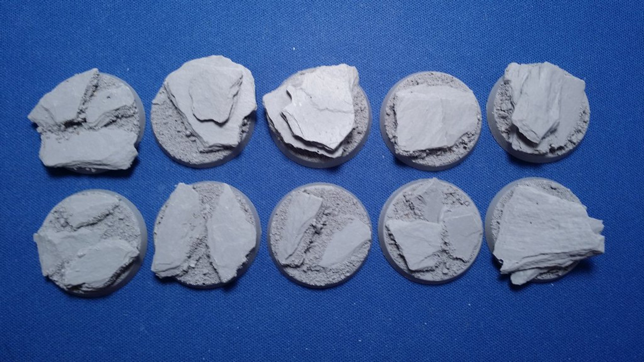 Elriks Slate Round Bases - 32mm - Round - 10 Pack
