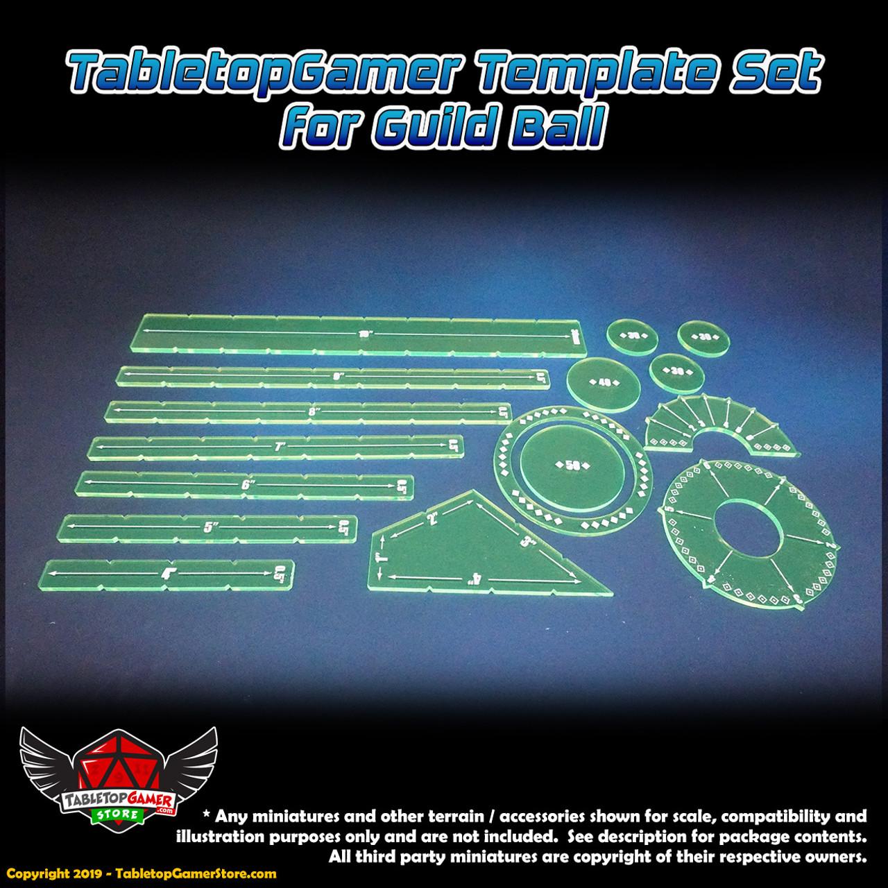 TabletopGamer Template Set for Guild Ball