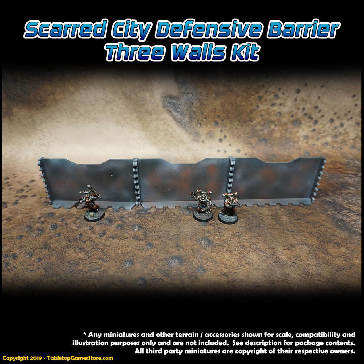 Scarred City Defensive Barrier - 3 Walls Kit