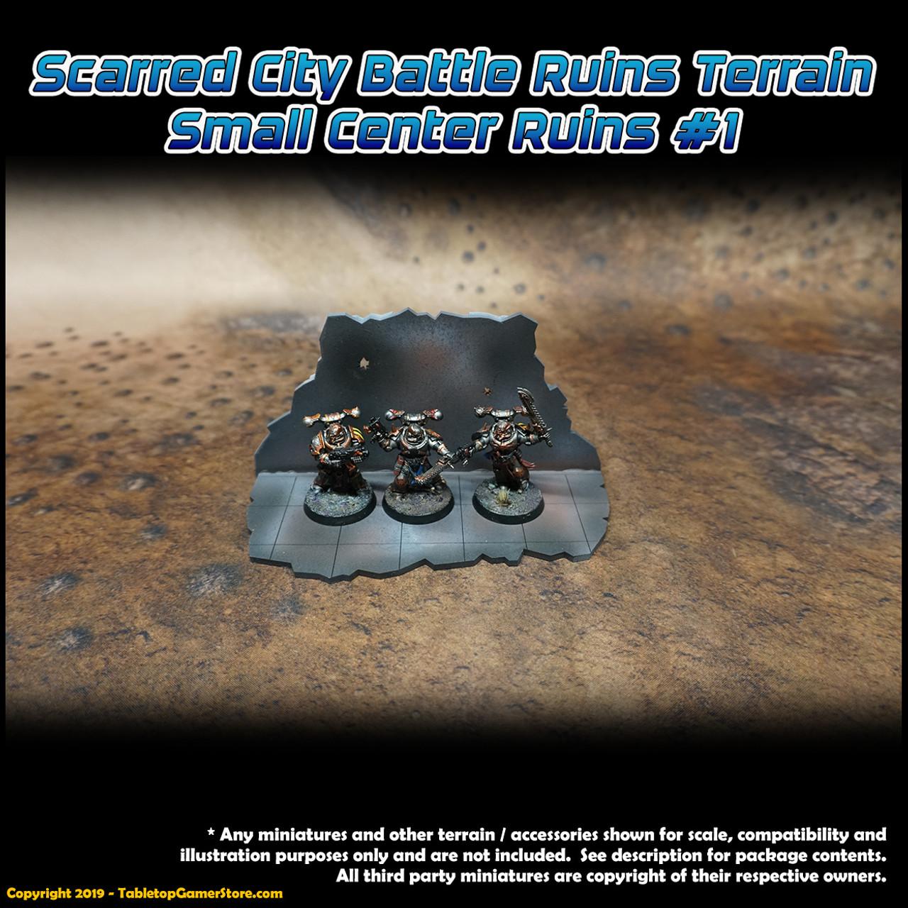 Scarred City Battle Ruins Terrain - Small Center Ruins 1