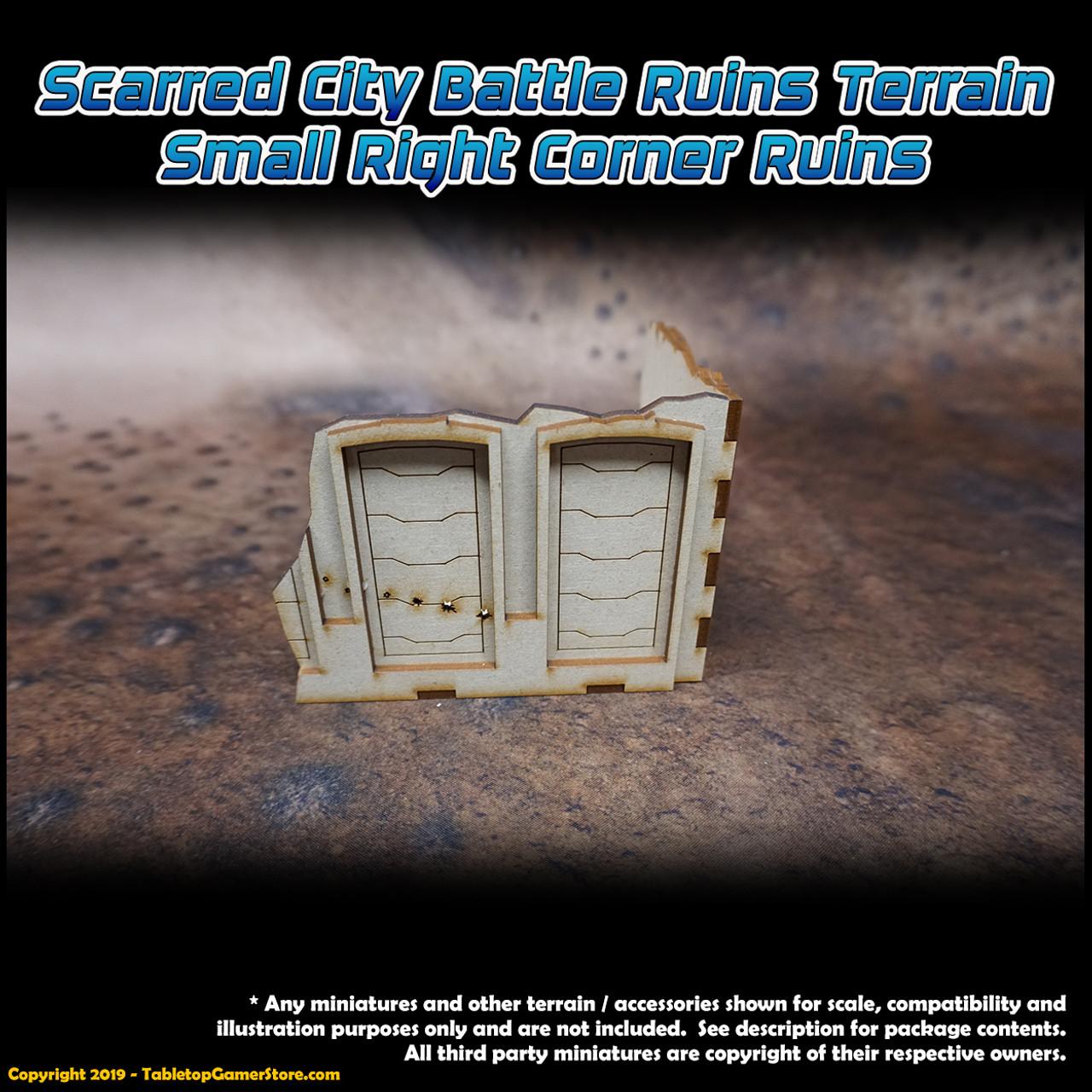 Scarred City Battle Ruins Terrain - Small Right Corner Ruins