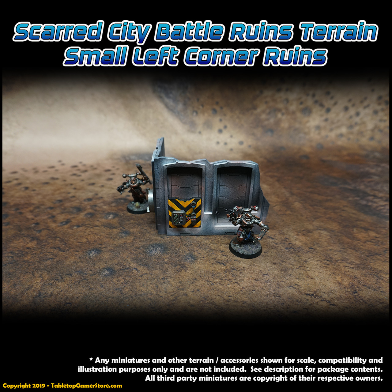 Scarred City Battle Ruins Terrain - Small Left Corner Ruins