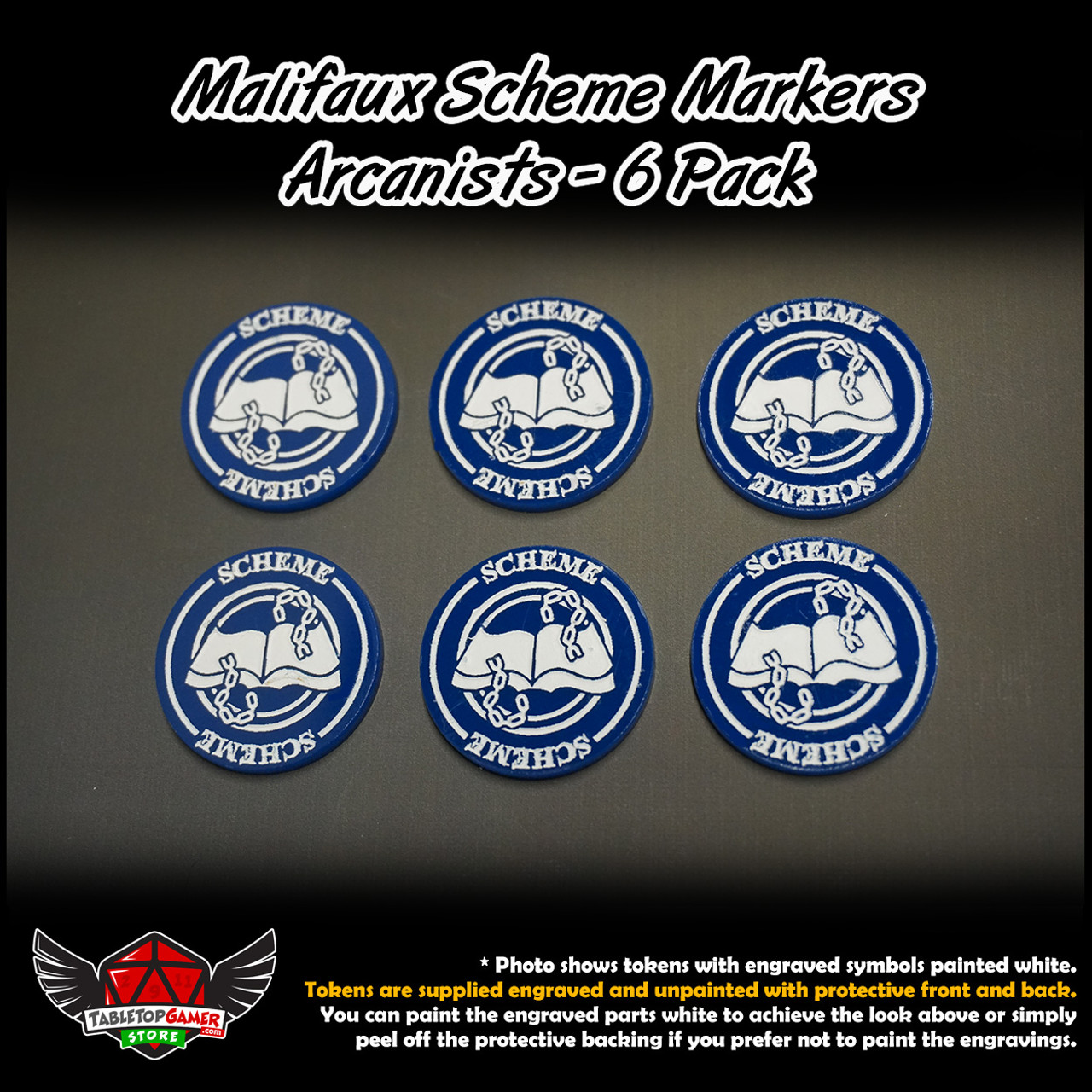 Malifaux M3E Scheme Markers - Arcanists - 6 Pack