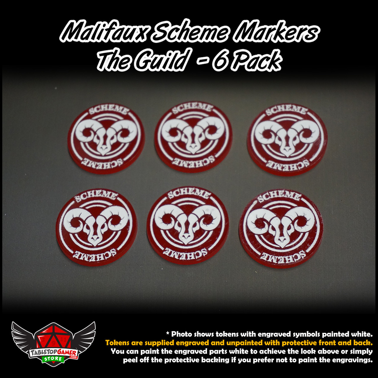 Malifaux M3E Scheme Markers - The Guild - 6 Pack