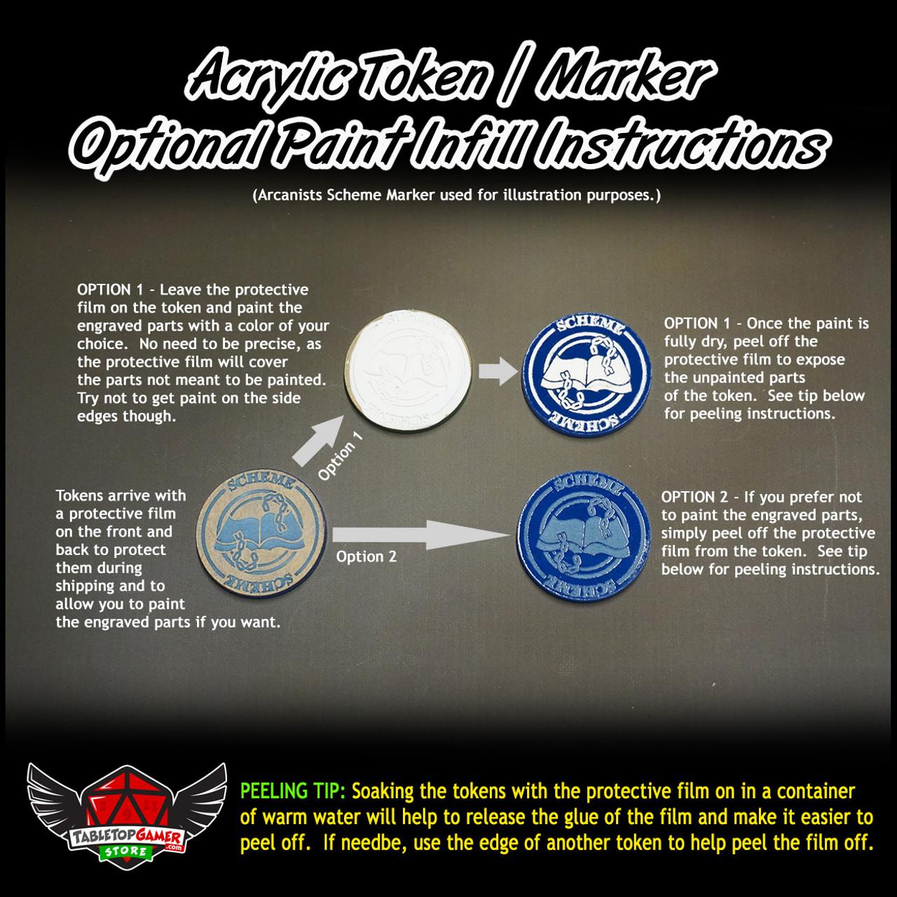 Malifaux M3E Scheme Markers - Ten Thunders - 6 Pack