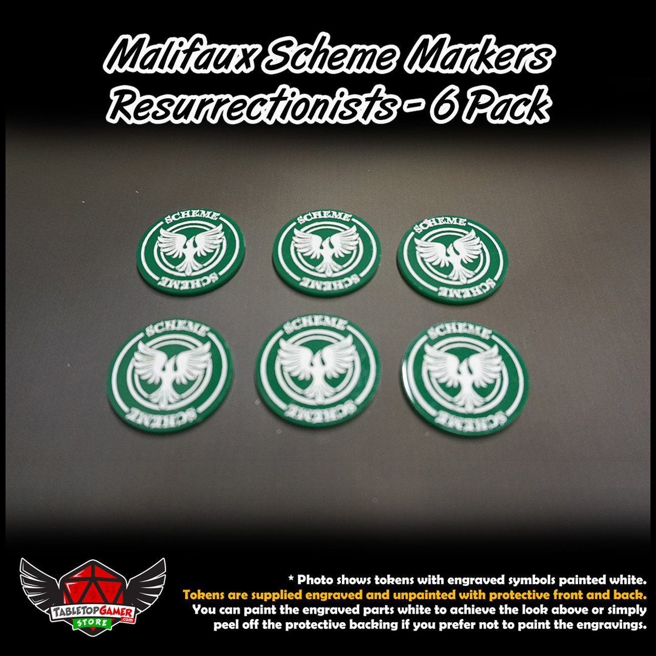 Malifaux M3E Scheme Markers - Resurrectionists - 6 Pack