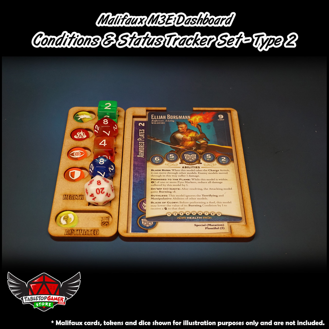Malifaux M3E Dashboard - Conditions & Status Tracker Set -  Type 2