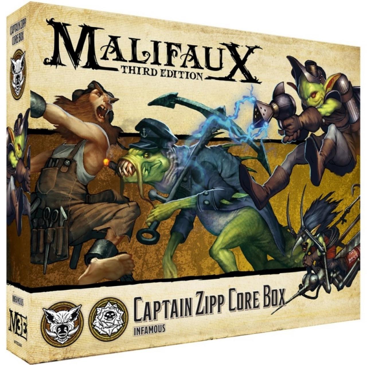 Malifaux Captain Zipp Core Box - Bayou / Outcasts - M3E