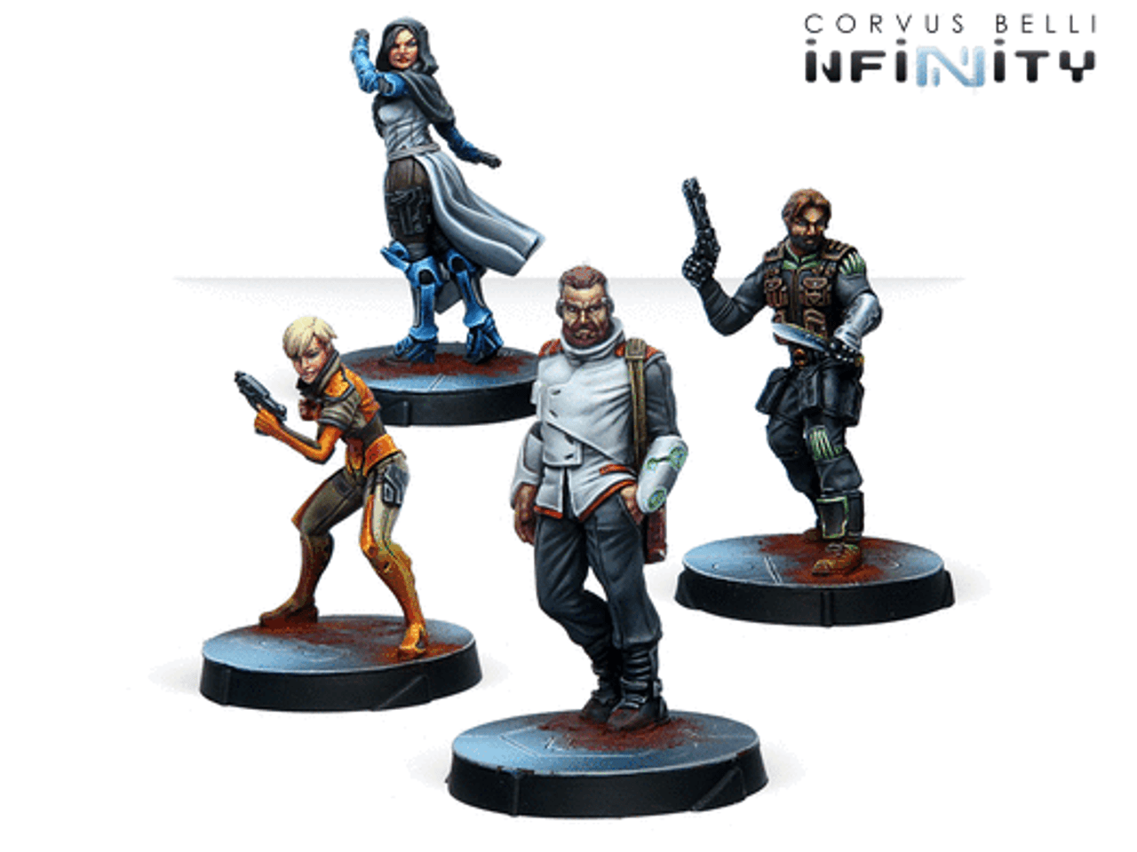 Infinity Civilians Agents of the Human Sphere RPG Characters Set