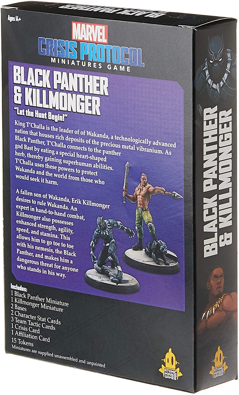 Marvel Crisis Protocol: Black Panther and Killmonder Character Pack