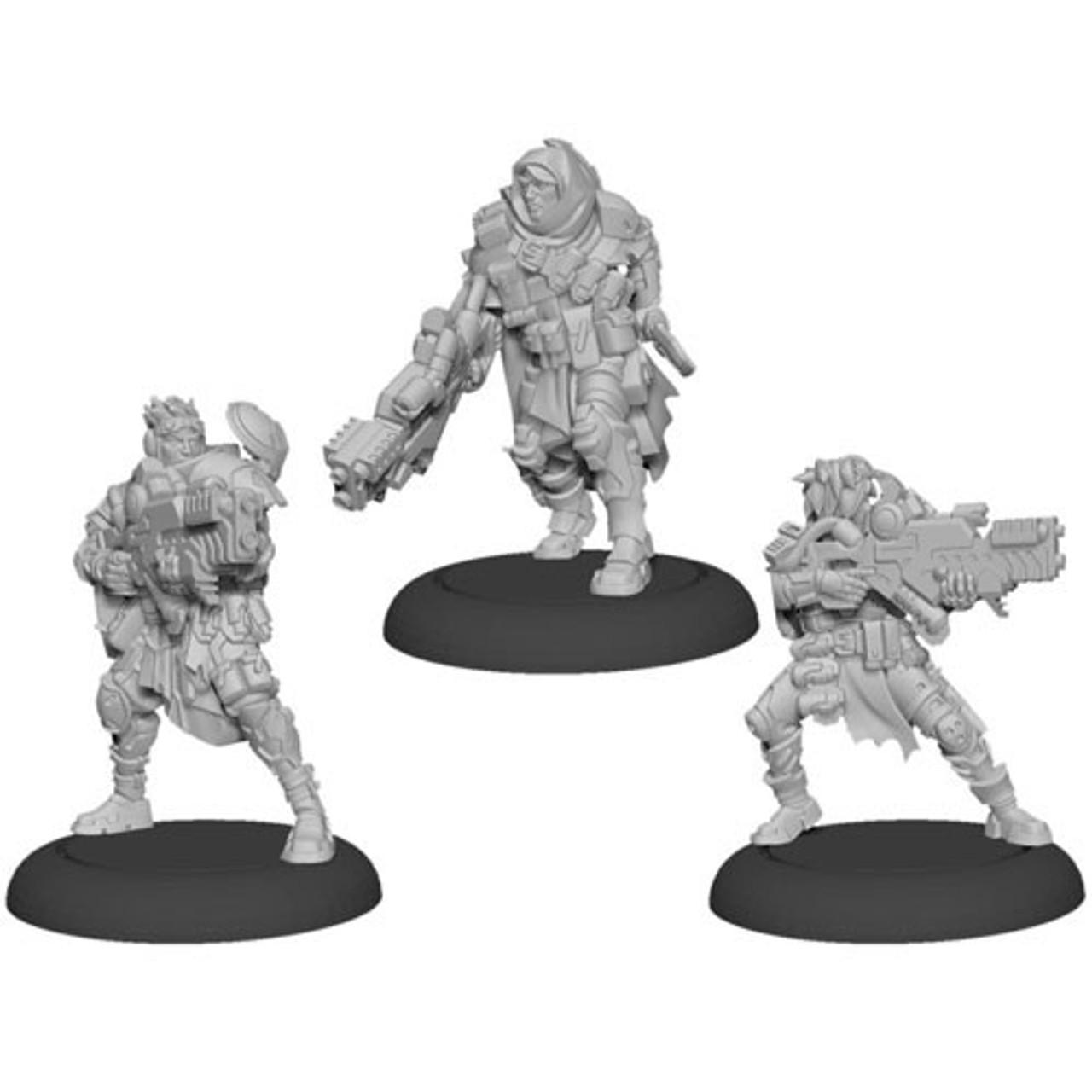 Warcaster Neo-Mechanika Marcher Worlds - Ranger Fire Team Squad (3)