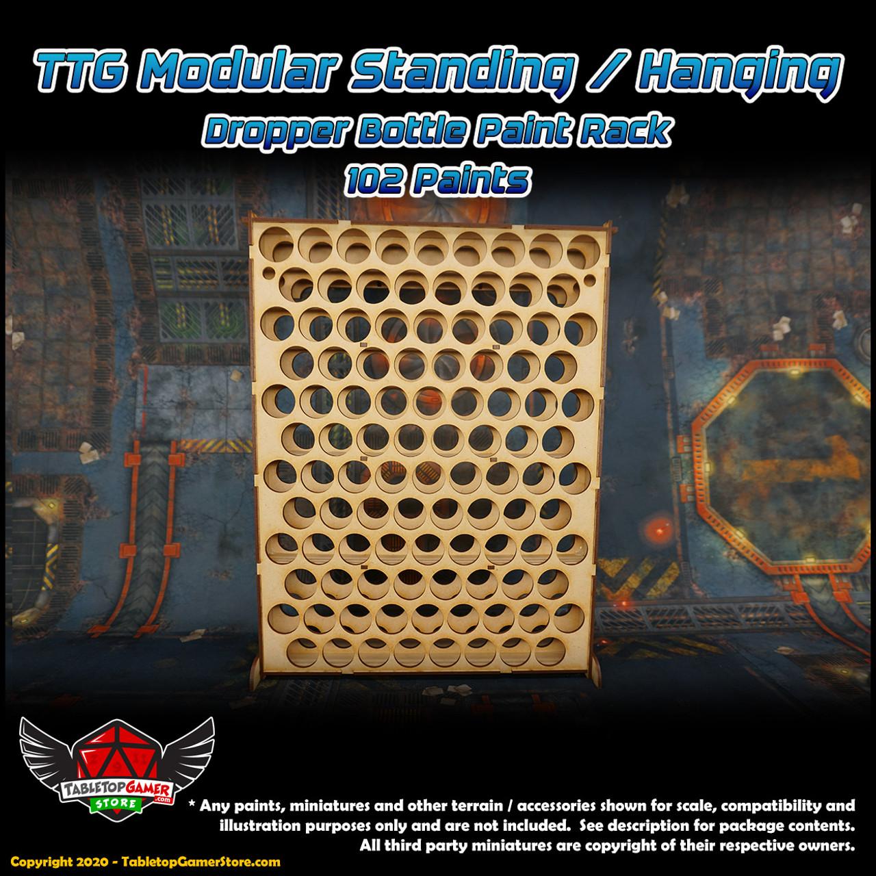 TTG Modular Standing/Hanging Dropper Bottle Paint Rack - 102 Paints