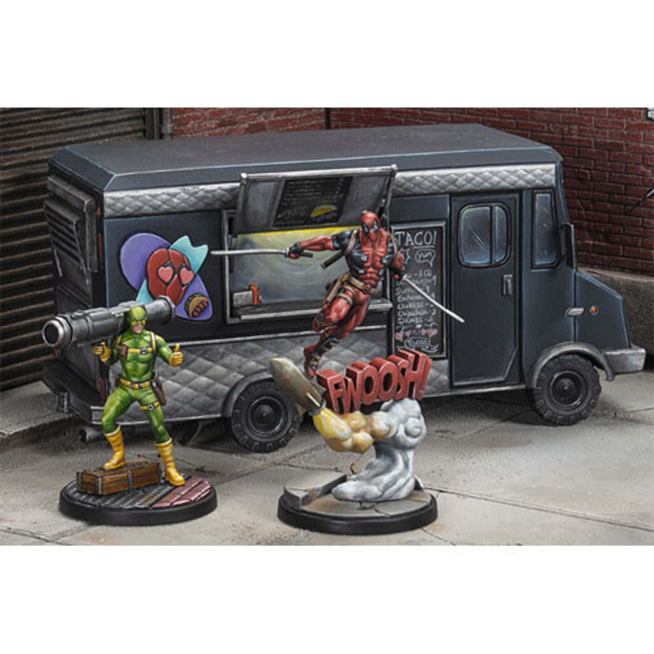 Marvel Crisis Protocol - Deadpool & Bob & Taco Truck Character Pack