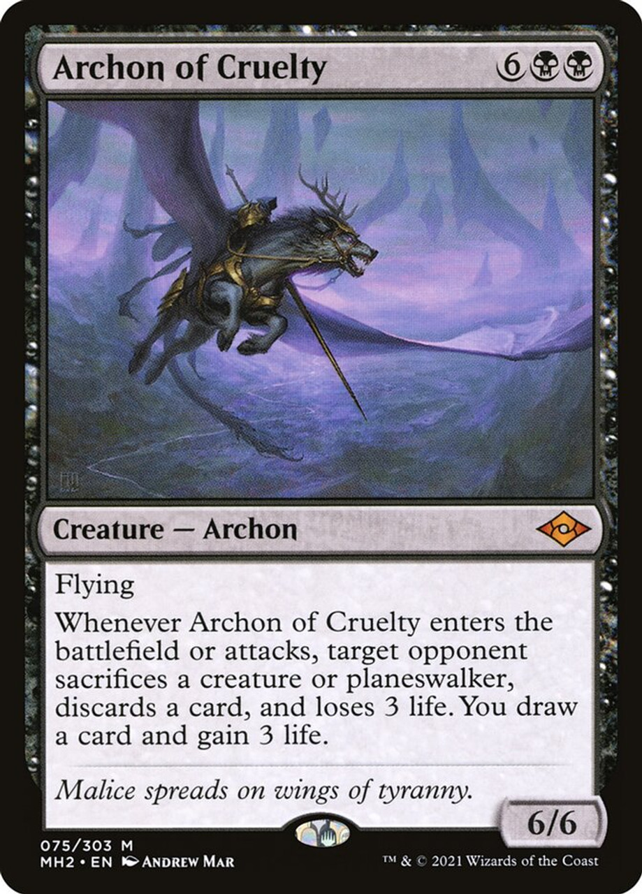 Archon of Cruelty - MTG Modern Horizons 2 - 075 - NM Pack Fresh