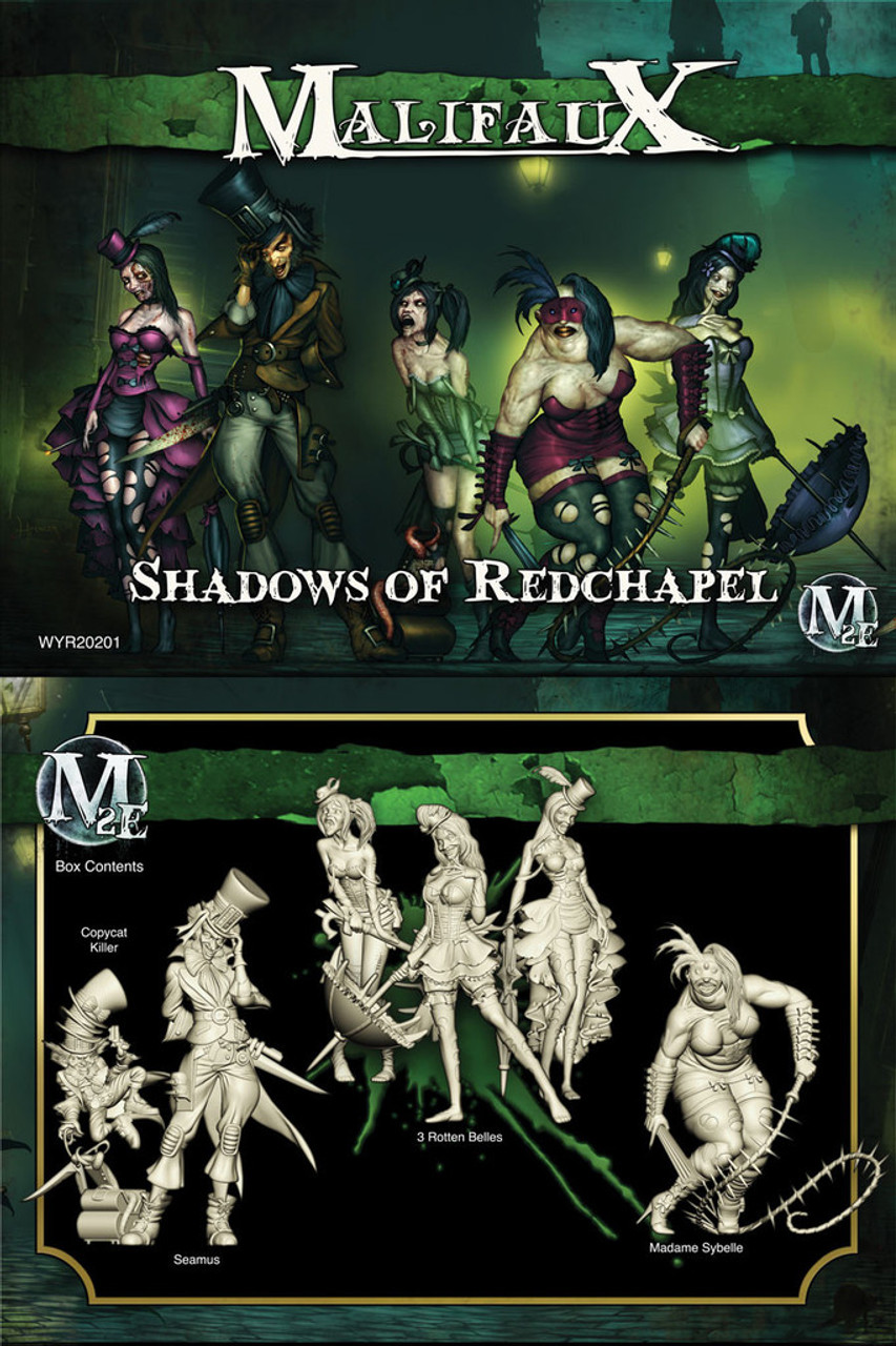 Malifaux Shadows of Red Chapel Crew (Seamus Box Set) - Resurrectionists - M2E