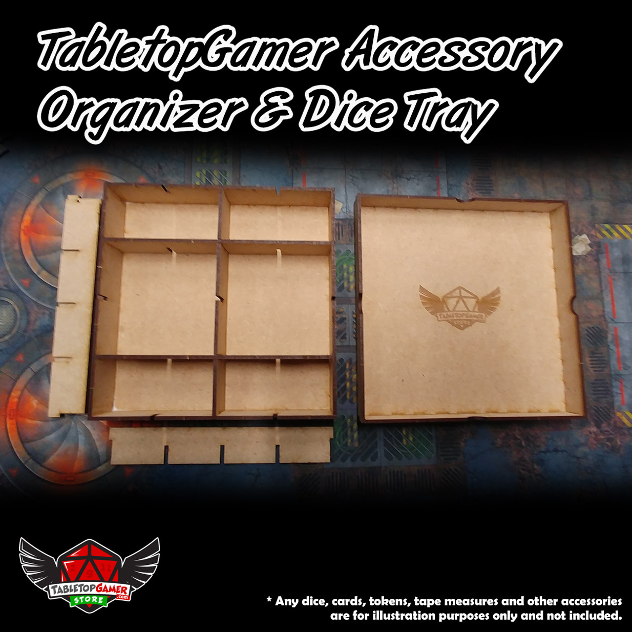 TabletopGamer Accessory Organizer & Dice Tray