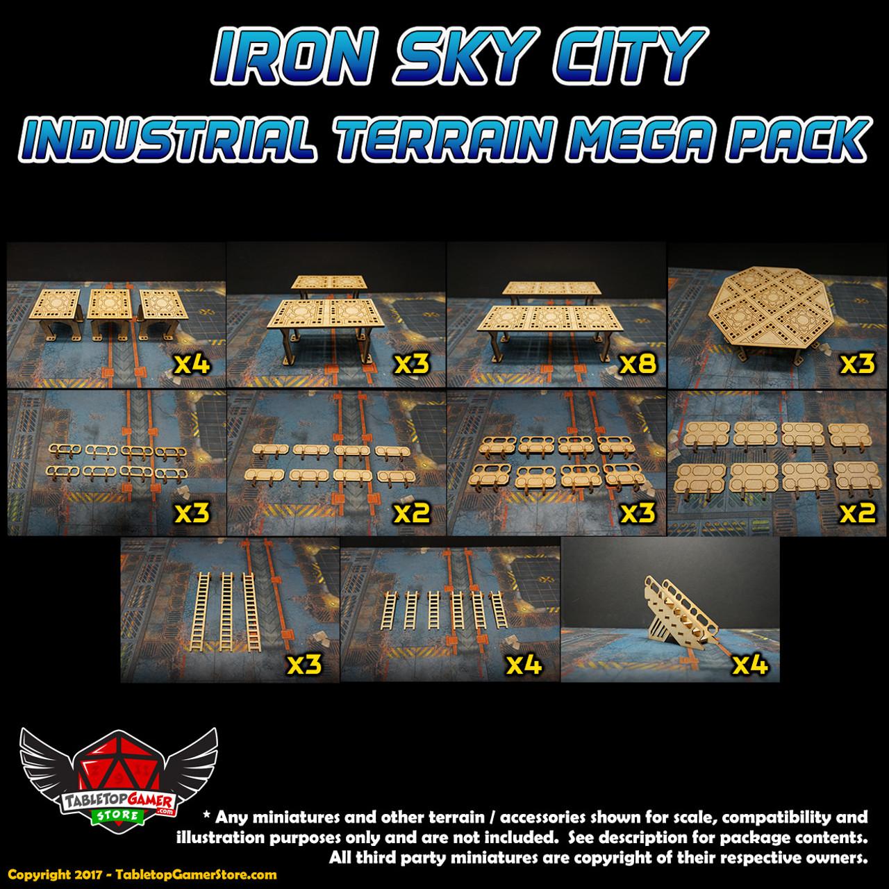 Iron Sky City Industrial Terrain Mega Pack