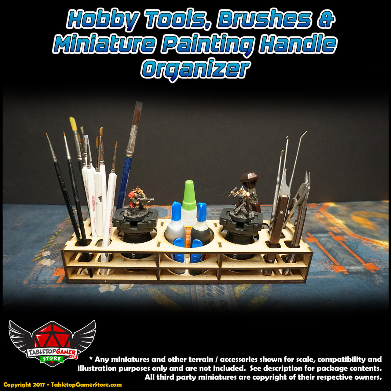 TTG Modular Hobby Tools, Brushes & Miniature Painting Handle Organizer