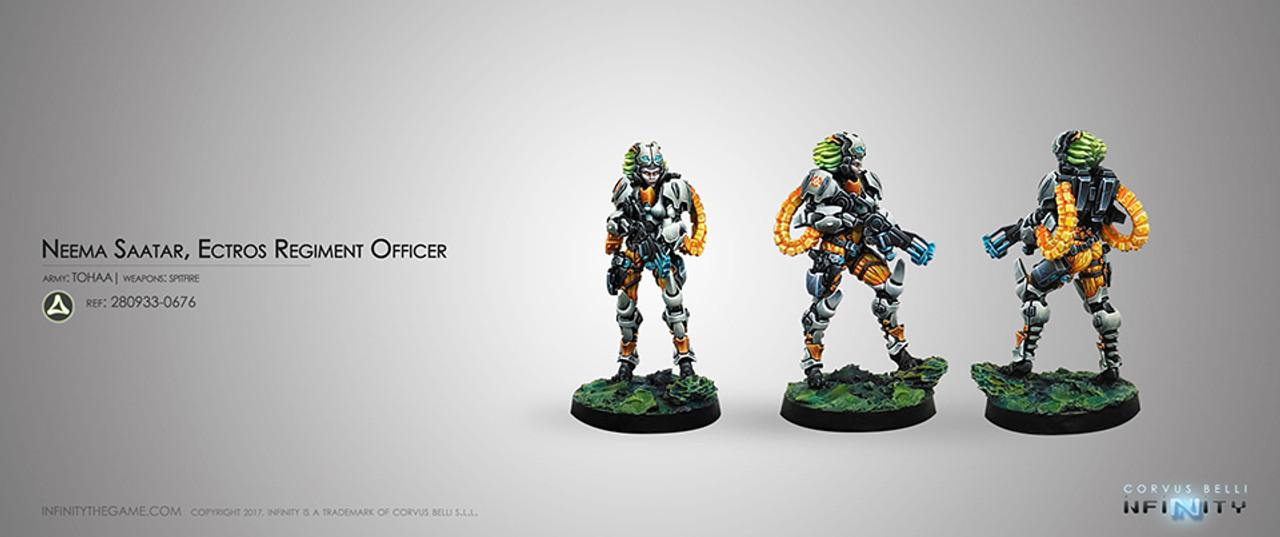 Infinity Neema Saatar - Ectros Regiment Officer (Spitfire) - Tohaa