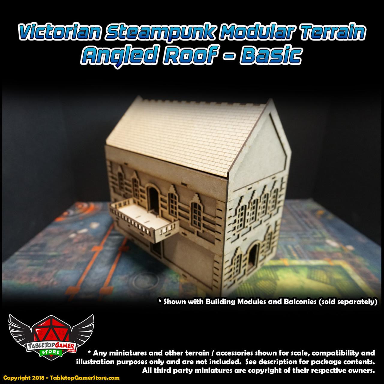 Victorian Steampunk Modular Terrain - Angled Roof - Basic