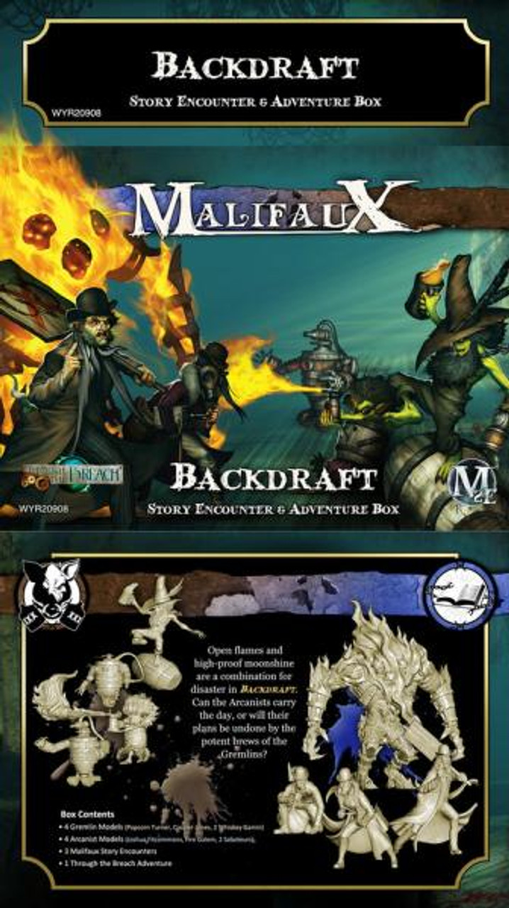 Malifaux Backdraft Encounter & Adventure Box - Arcanists - M2E