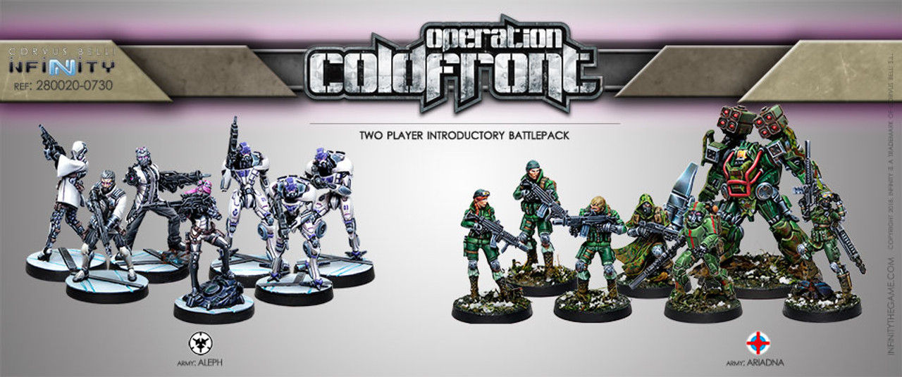 Infinity Operation Coldfront Two Player Introductory Battle Pack - ALEPH / Ariadna