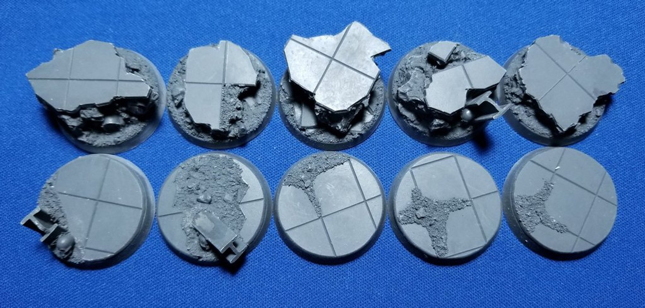 Elriks City Ruins Round Bases - 32mm - Round - 10 Pack