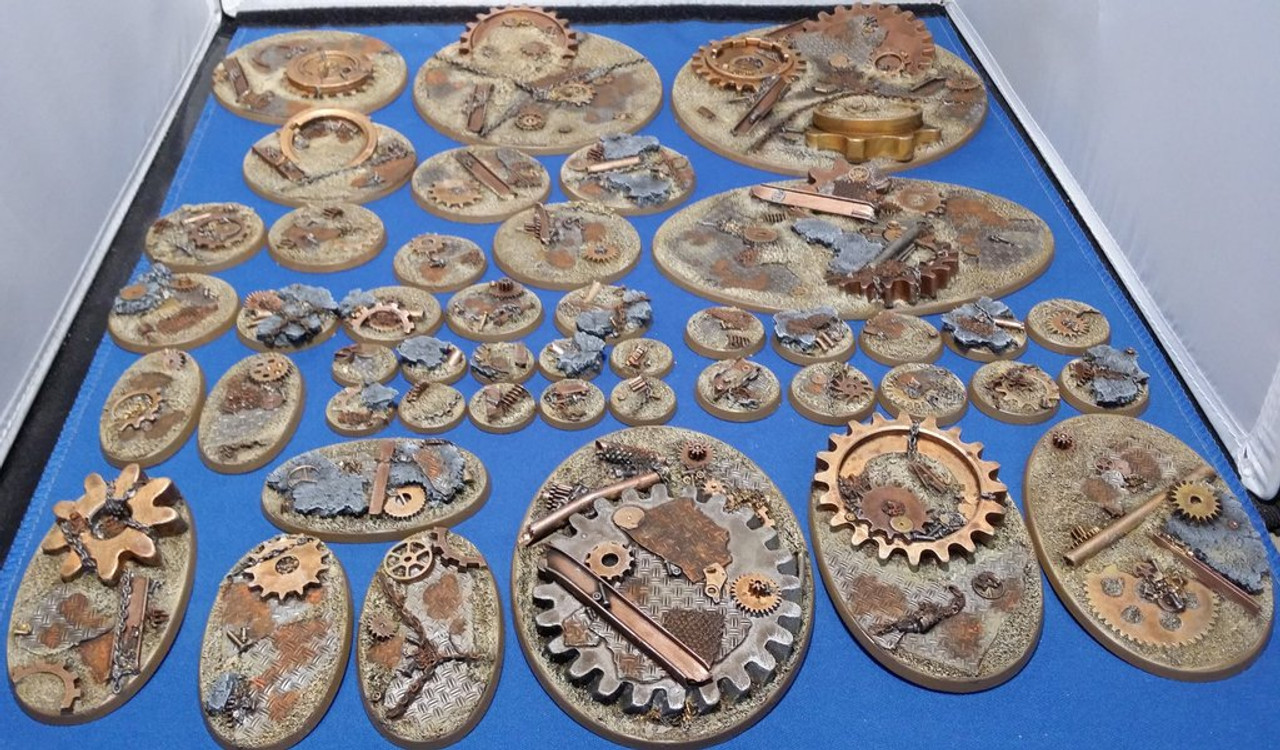 Elriks Industrial Ruins Round Bases - 32mm - Round - 10 Pack