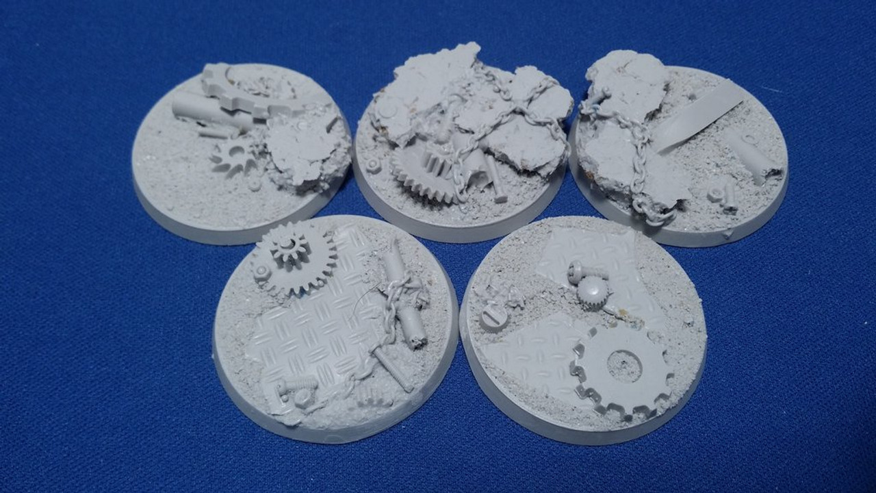 Elriks Industrial Ruins Round Bases - 40mm - Round - 5 Pack