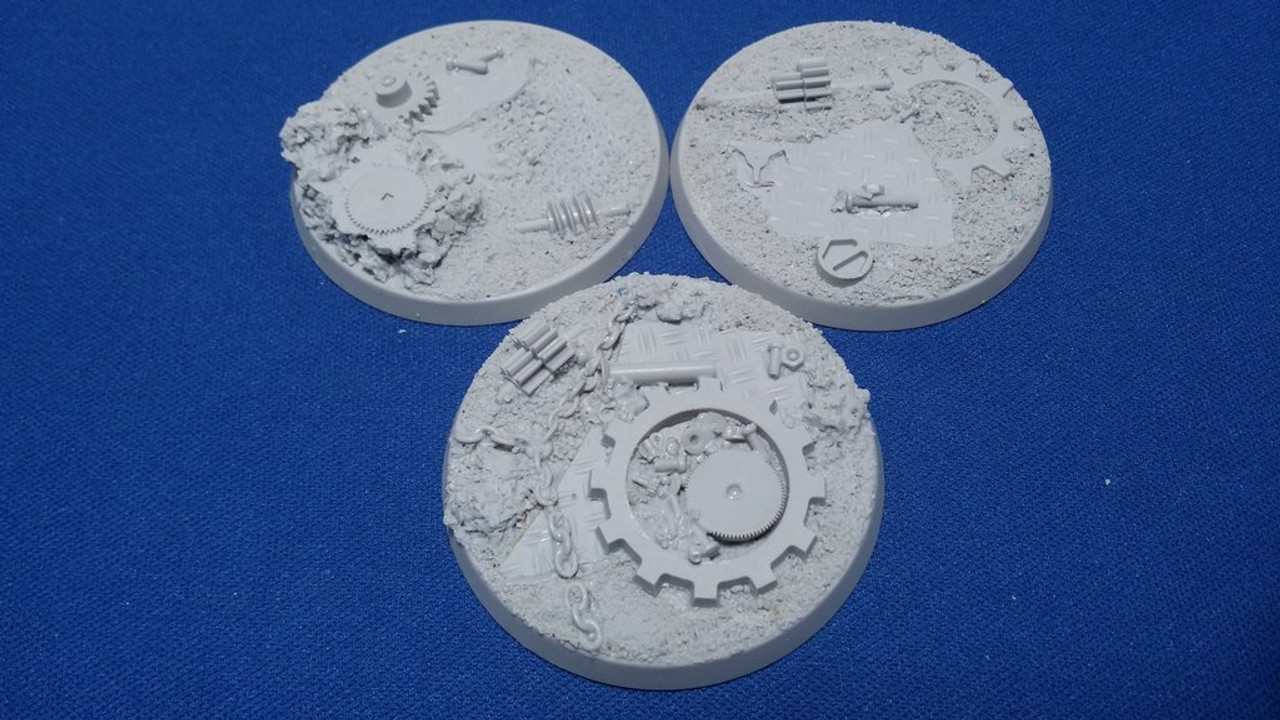 Elriks Industrial Ruins Round Bases - 50mm - Round - 3 Pack