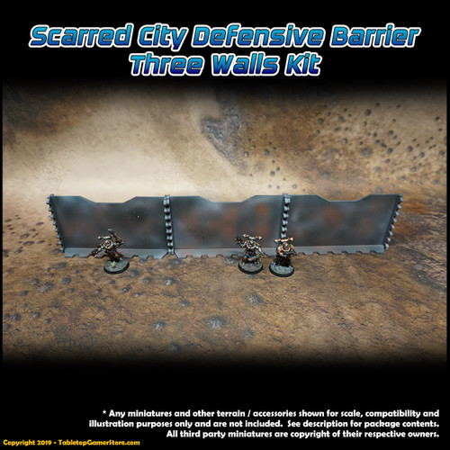 Scarred City Defensive Barrier - 3 Walls Kit