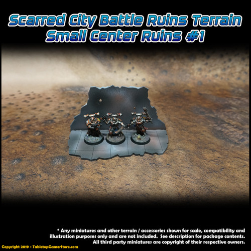 Scarred City Battle Ruins Terrain - Small Center Ruins 1