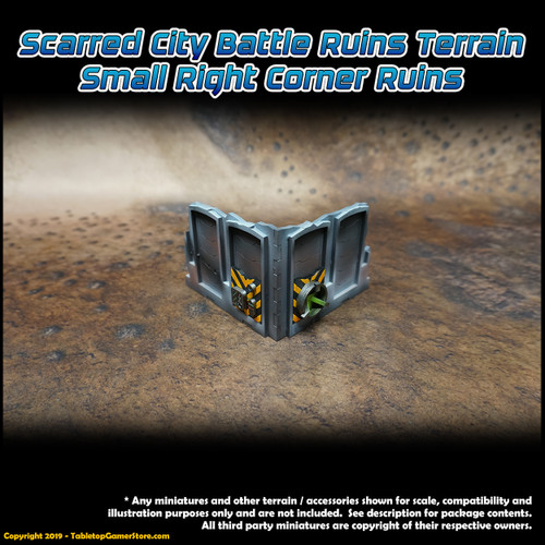 Scarred City Battle Ruins Terrain - Small Right Corner Ruins