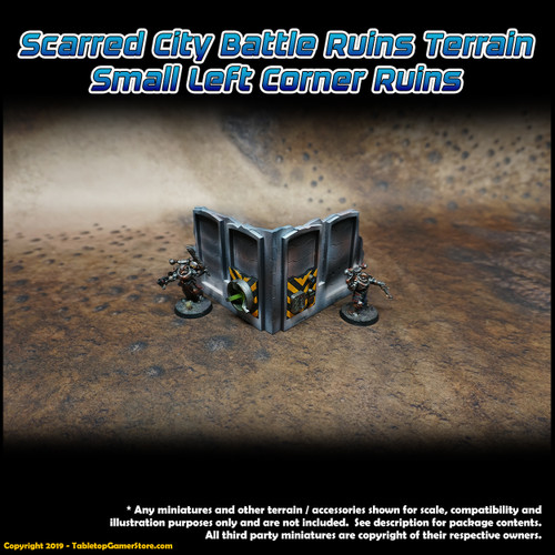 Scarred City Battle Ruins Terrain - Small Left Corner Ruins