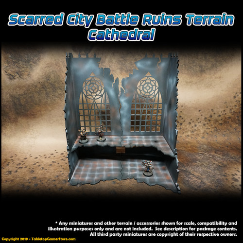Scarred City Battle Ruins Terrain - Cathedral