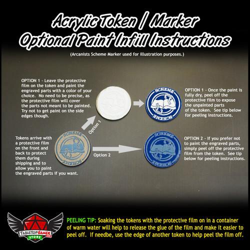 Malifaux M3E Blast Marker