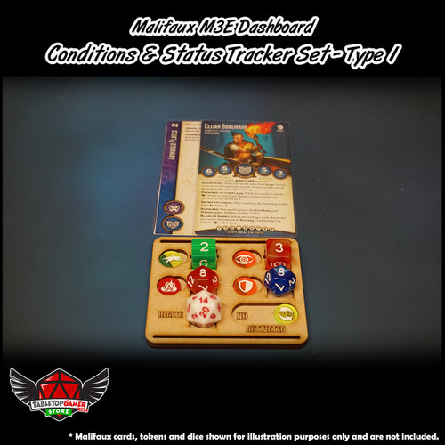 Malifaux M3E Dashboard - Conditions & Status Tracker Set -  Type 1