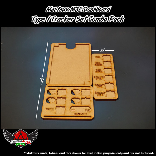 Malifaux M3E Dashboard - Type 1 Tracker Set Combo Pack