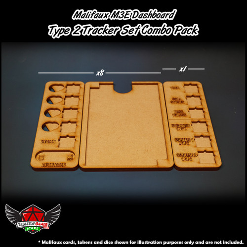 Malifaux M3E Dashboard - Type 2 Tracker Set Combo Pack