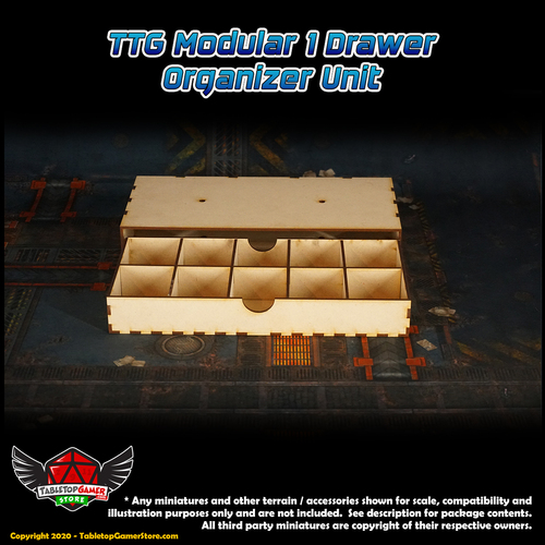 TTG Modular 1 Drawer Organizer Unit