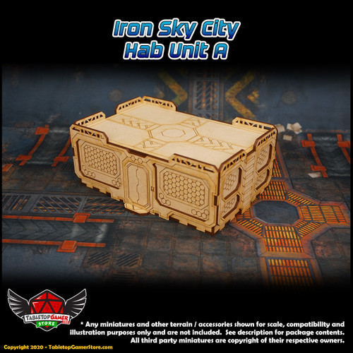 Iron Sky City Hab Unit A - 3 Pack