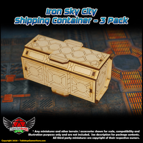 Iron Sky City Shipping Container - 3 Pack
