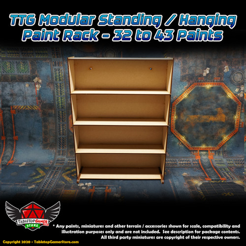 TTG Modular Standing / Hanging Paint Rack - 32 to 43 Paints