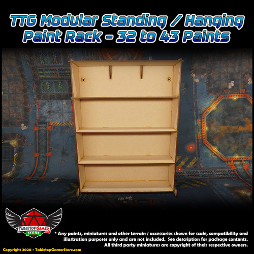 TTG Modular Standing/Hanging Paint Rack - 32 to 43 Paints